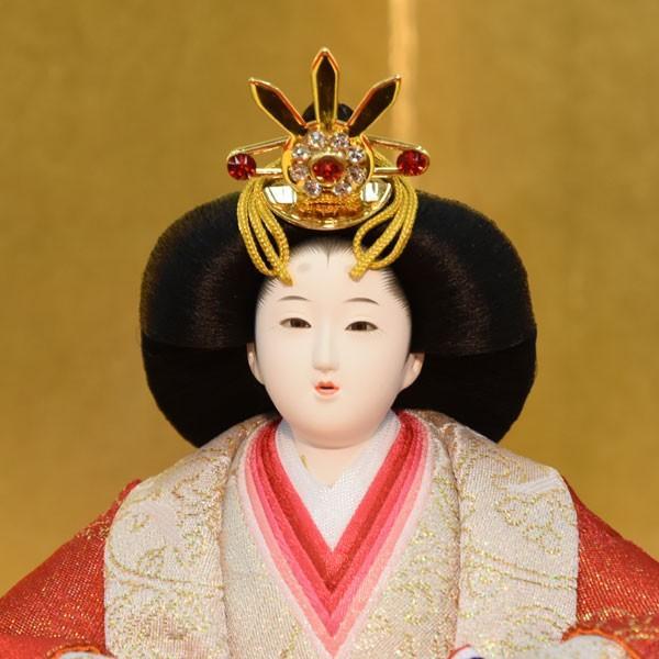雛人形 コンパクト 小さい ひな人形 お雛様 初節句飾り お祝い 親王飾り 2人 平飾り 46t|jinya2-hina|03