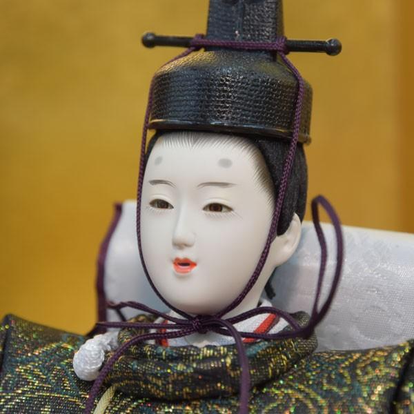 雛人形 コンパクト 小さい ひな人形 お雛様 初節句飾り お祝い 親王飾り 2人 平飾り 46t|jinya2-hina|04