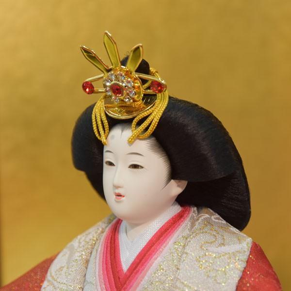 雛人形 コンパクト 小さい ひな人形 お雛様 初節句飾り お祝い 親王飾り 2人 平飾り 46t|jinya2-hina|05