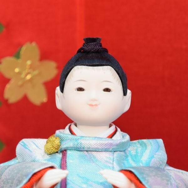 雛人形 コンパクト 幼顔 ひな人形 お雛様 初節句飾り お祝い 親王飾り 2人 平飾り 46t|jinya2-hina|02
