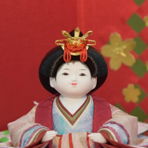 雛人形 コンパクト 幼顔 ひな人形 お雛様 初節句飾り お祝い 親王飾り 2人 平飾り 46t|jinya2-hina|03