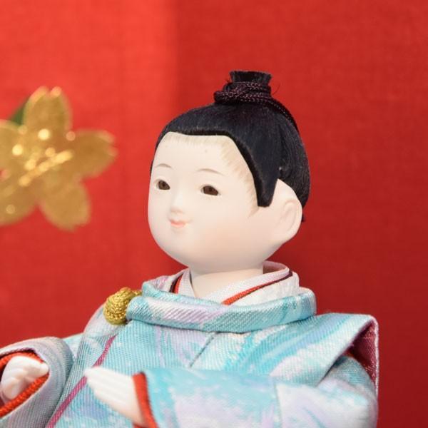 雛人形 コンパクト 幼顔 ひな人形 お雛様 初節句飾り お祝い 親王飾り 2人 平飾り 46t|jinya2-hina|04