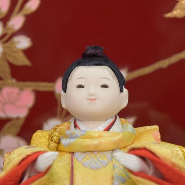 雛人形 変わり雛 小さい 幼顔 ひな人形 お雛様 初節句飾り お祝い 5人飾り 平飾り 46t|jinya2-hina|02