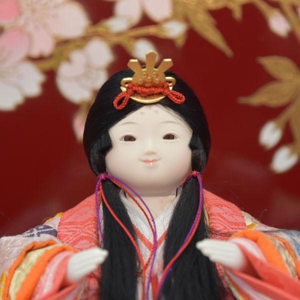 雛人形 変わり雛 小さい 幼顔 ひな人形 お雛様 初節句飾り お祝い 5人飾り 平飾り 46t|jinya2-hina|03