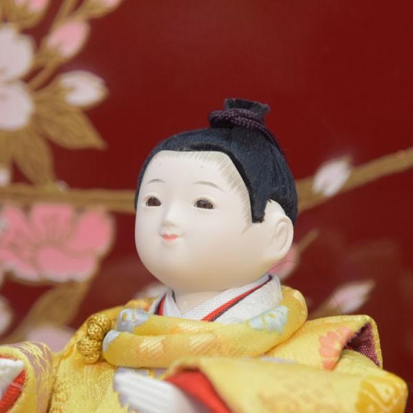 雛人形 変わり雛 小さい 幼顔 ひな人形 お雛様 初節句飾り お祝い 5人飾り 平飾り 46t|jinya2-hina|04