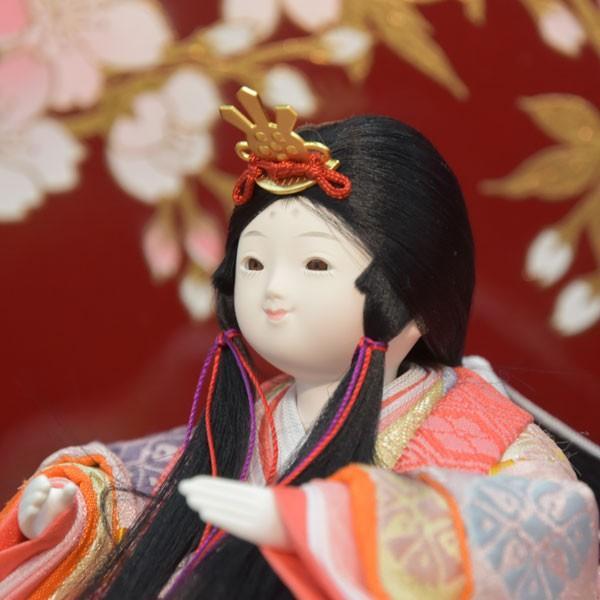 雛人形 変わり雛 小さい 幼顔 ひな人形 お雛様 初節句飾り お祝い 5人飾り 平飾り 46t|jinya2-hina|05