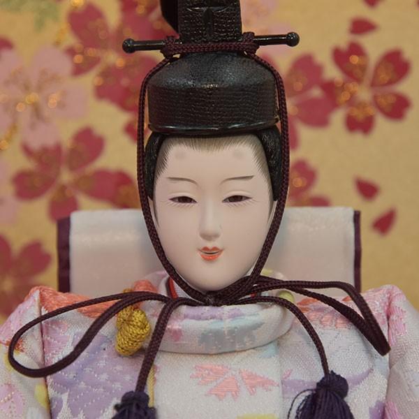 雛人形 ピンク コンパクト ひな人形 お雛様 初節句飾り お祝い 親王飾り 2人 平飾り 46t|jinya2-hina|02