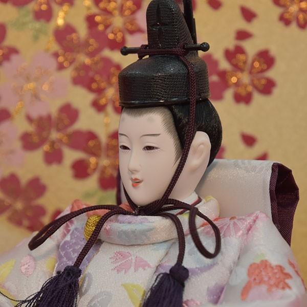 雛人形 ピンク コンパクト ひな人形 お雛様 初節句飾り お祝い 親王飾り 2人 平飾り 46t|jinya2-hina|04
