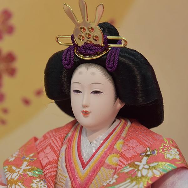 雛人形 ピンク コンパクト ひな人形 お雛様 初節句飾り お祝い 親王飾り 2人 平飾り 46t|jinya2-hina|05