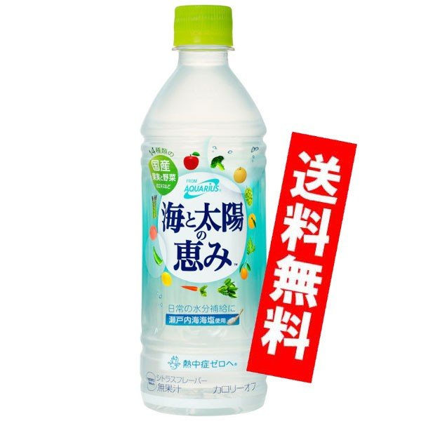 アクエリアス  海と太陽の恵み 500ml  ペットボトル 24本入り コカコーラ|jinya2-hina