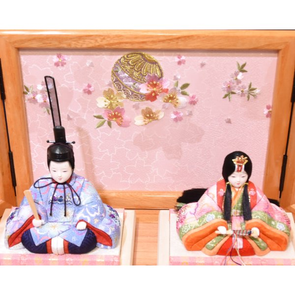 雛人形 久月 木目込み 収納飾り ほのか コンパクト mini 小さい 杉田 ひな人形 初節句飾り お祝|jinya2-hina|04