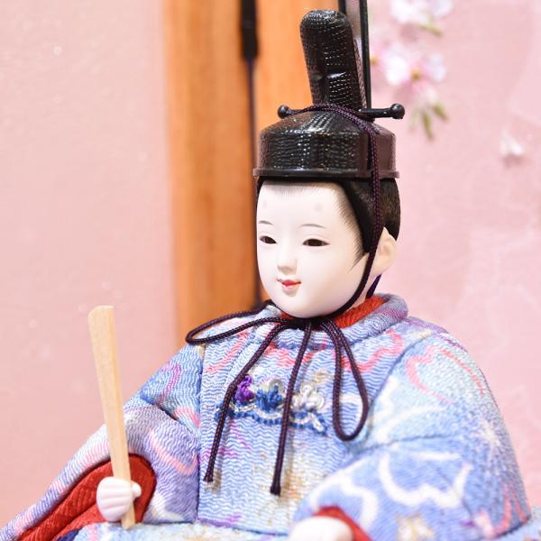 雛人形 久月 木目込み 収納飾り ほのか コンパクト mini 小さい 杉田 ひな人形 初節句飾り お祝|jinya2-hina|07