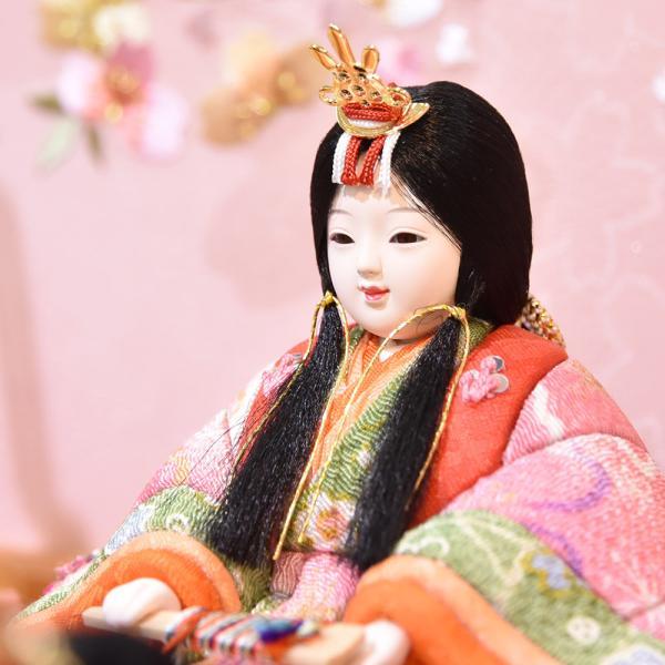 雛人形 久月 木目込み 収納飾り ほのか コンパクト mini 小さい 杉田 ひな人形 初節句飾り お祝|jinya2-hina|08