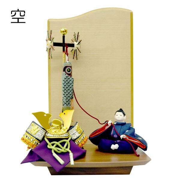 五月人形 兜 飾り 鯉のぼり JIN 空 子供大将飾り 童人形 初節句飾り かわいい ミニ コンパクト飾り こいのぼり|jinya
