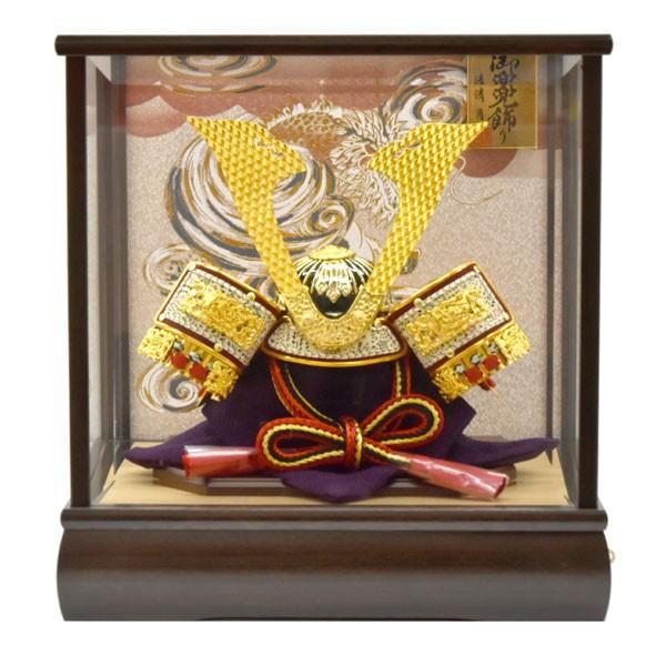【最短即日出荷可能品】 五月人形 ガラス 兜飾り ケース飾り 5月人形 コンパクトミニ yoroi-49|jinya