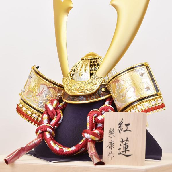 五月人形 コンパクト 単品 mini 兜飾り かぶと ミニ 小さい おしゃれ kabuto-49 5月人形|jinya|07