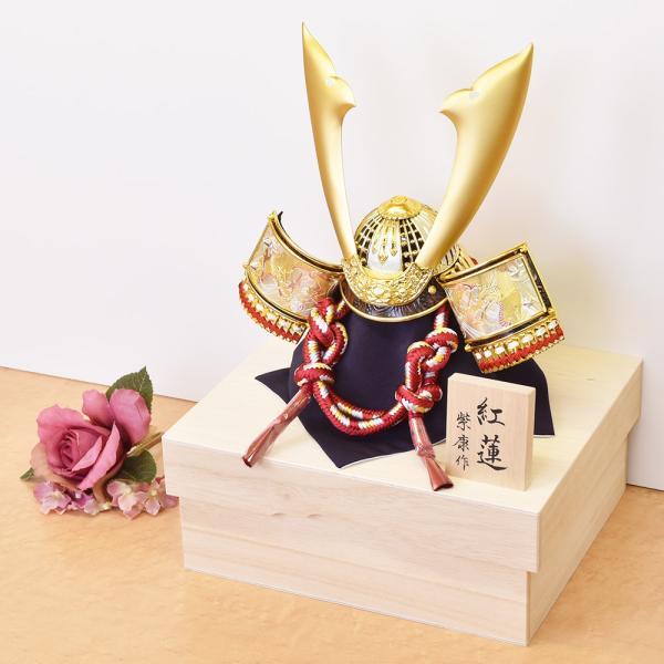 五月人形 コンパクト 単品 mini 兜飾り かぶと ミニ 小さい おしゃれ kabuto-49 5月人形|jinya|08