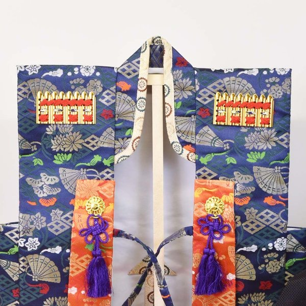 【最短即日出荷可能品】 五月人形 兜 着用 陣羽織 ベスト チョッキ 着物 5月人形 手作り|jinya|04