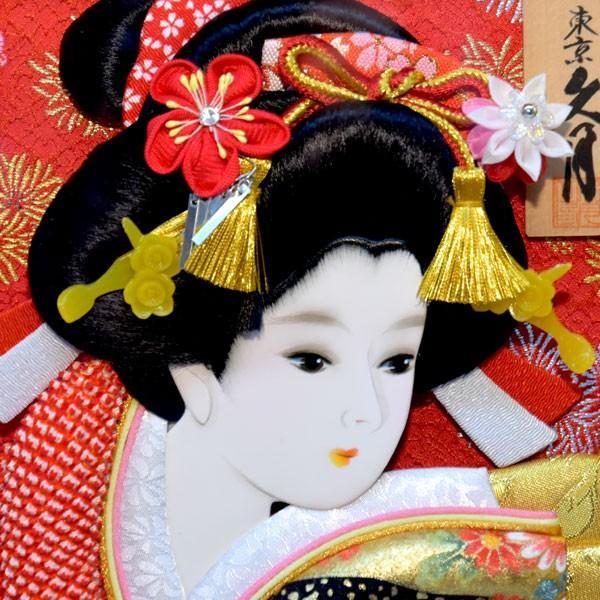 羽子板 久月 壁掛け 羽子板飾り 額入り 初正月 15号 コンパクト ミニ お祝い jinya 02