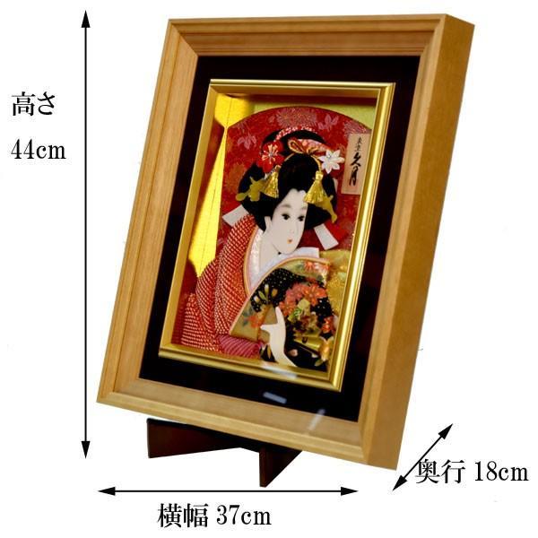 羽子板 久月 壁掛け 羽子板飾り 額入り 初正月 15号 コンパクト ミニ お祝い jinya 04