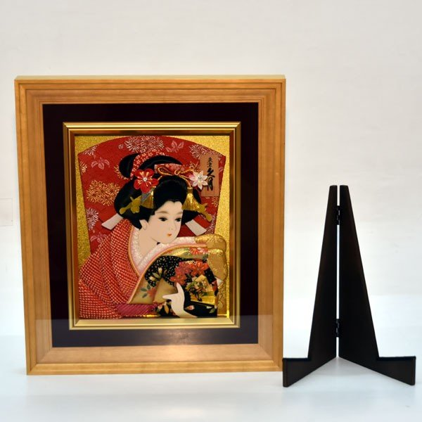 羽子板 久月 壁掛け 羽子板飾り 額入り 初正月 15号 コンパクト ミニ お祝い jinya 05