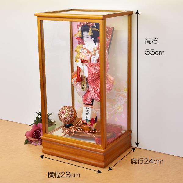 羽子板 初正月 羽子板飾り 13号 ピンク お祝い 正月飾り 手作り ケース入り おしゃれ|jinya|02