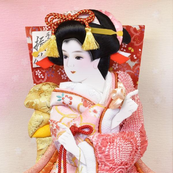 羽子板 初正月 羽子板飾り 13号 ピンク お祝い 正月飾り 手作り ケース入り おしゃれ|jinya|04