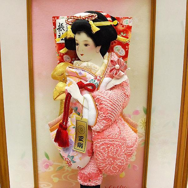 羽子板 初正月 羽子板飾り 13号 ピンク お祝い 正月飾り 手作り ケース入り おしゃれ|jinya|06