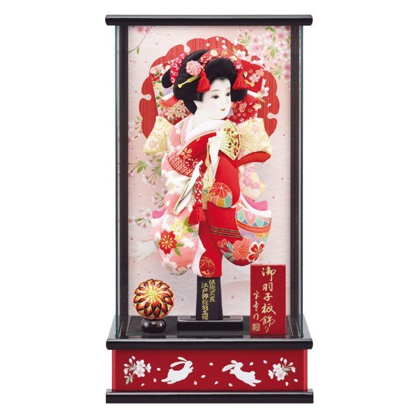 羽子板飾り コンパクト おしゃれ 初正月飾り ケース入り 10号 a2matu19-3|jinya