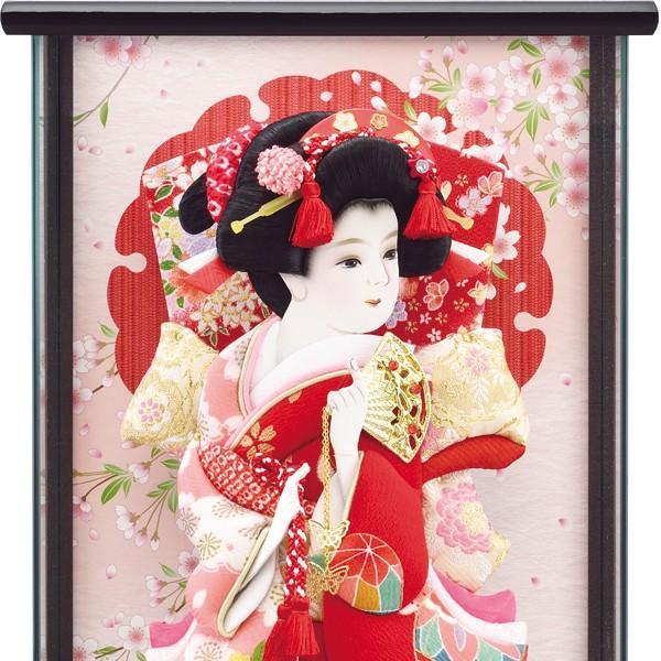 羽子板飾り コンパクト おしゃれ 初正月飾り ケース入り 10号 a2matu19-3|jinya|05