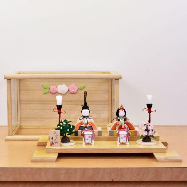 雛人形 木目込み ケース飾り かわいい 幸一光 ひな人形 コンパクト ミニ jinya 04