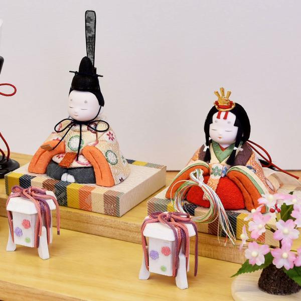 雛人形 木目込み ケース飾り かわいい 幸一光 ひな人形 コンパクト ミニ jinya 05