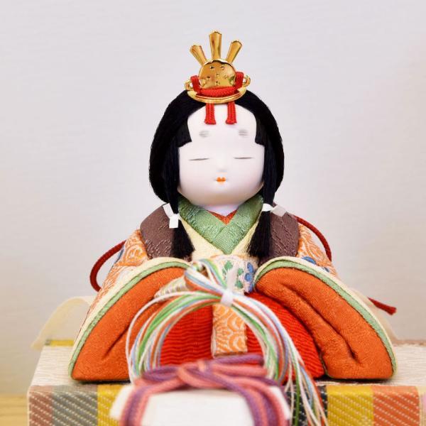 雛人形 木目込み ケース飾り かわいい 幸一光 ひな人形 コンパクト ミニ jinya 07