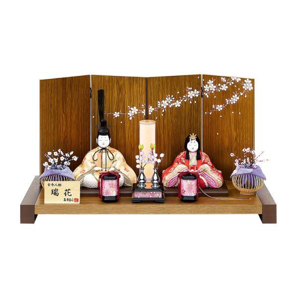 雛人形 真多呂 木目込み 高級 コンパクト 逸品古今親王・セット瑞花雛 親王飾り モダン 平飾り