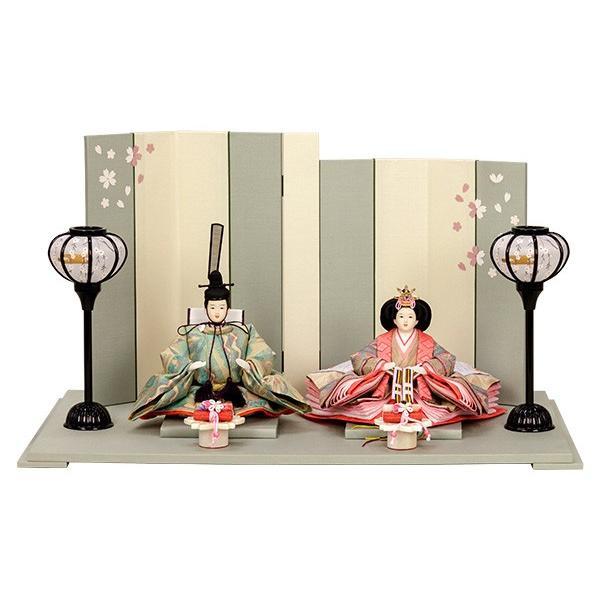 雛人形 小さい コンパクト mini ひな人形 お雛様 初節句飾り お祝い 親王飾り 2人 平飾り 46t jinya
