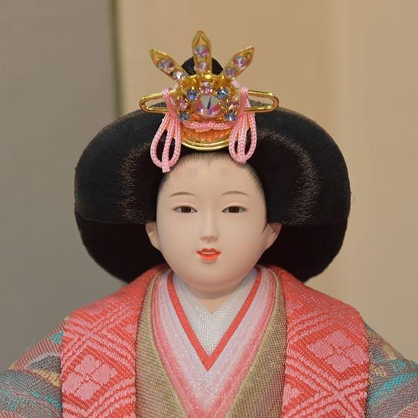 雛人形 小さい コンパクト mini ひな人形 お雛様 初節句飾り お祝い 親王飾り 2人 平飾り 46t jinya 03