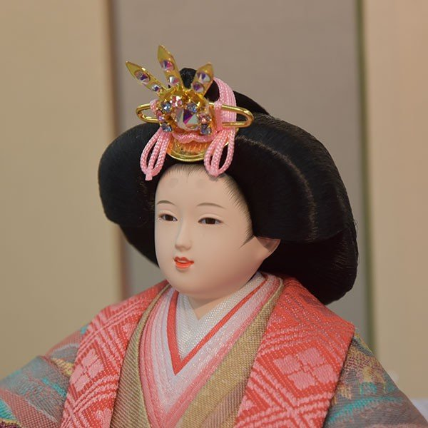 雛人形 小さい コンパクト mini ひな人形 お雛様 初節句飾り お祝い 親王飾り 2人 平飾り 46t jinya 05