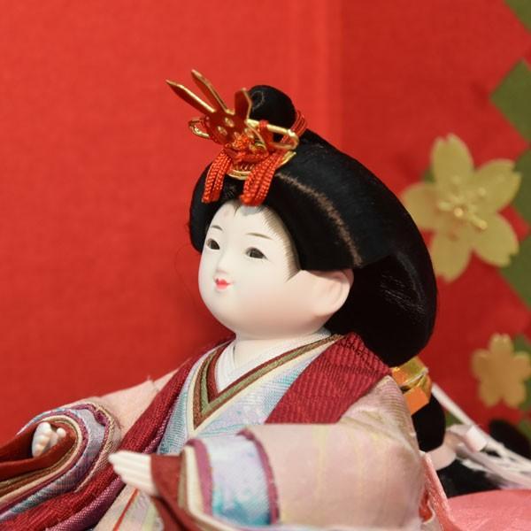 雛人形 コンパクト 幼顔 ひな人形 お雛様 初節句飾り お祝い 親王飾り 2人 平飾り 46t jinya 05