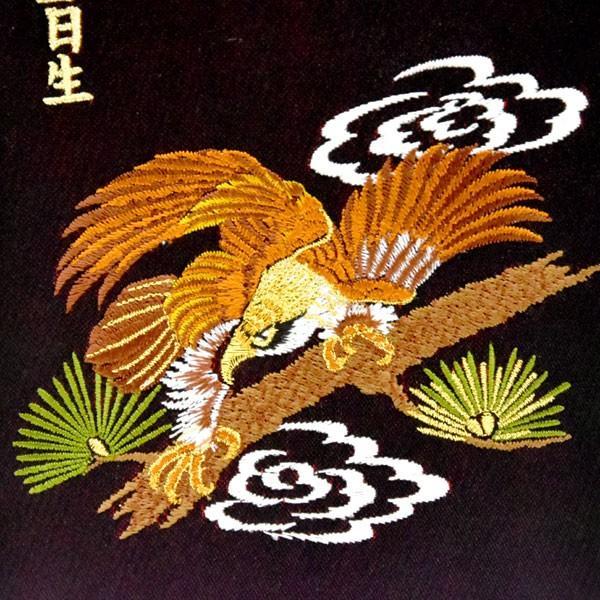 五月人形 名前旗 旗 5月人形 鷹 たか 刺繍名入れ代込 台座付 コンパクト おしゃれ|jinya|05