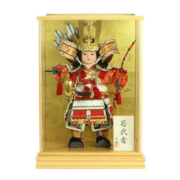 五月人形 大将飾り ケース入り コンパクト 子供大将 おしゃれ 鎧 甲冑 兜 5月人形 taisyou-49|jinya