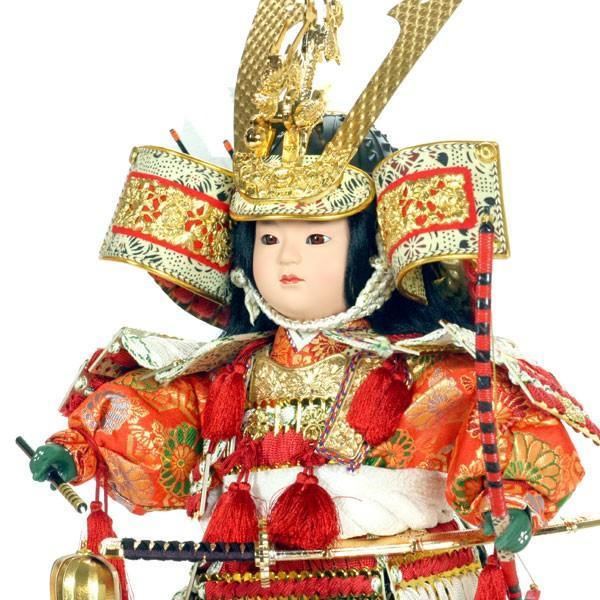 五月人形 大将飾り ケース入り コンパクト 子供大将 おしゃれ 鎧 甲冑 兜 5月人形 taisyou-49|jinya|03