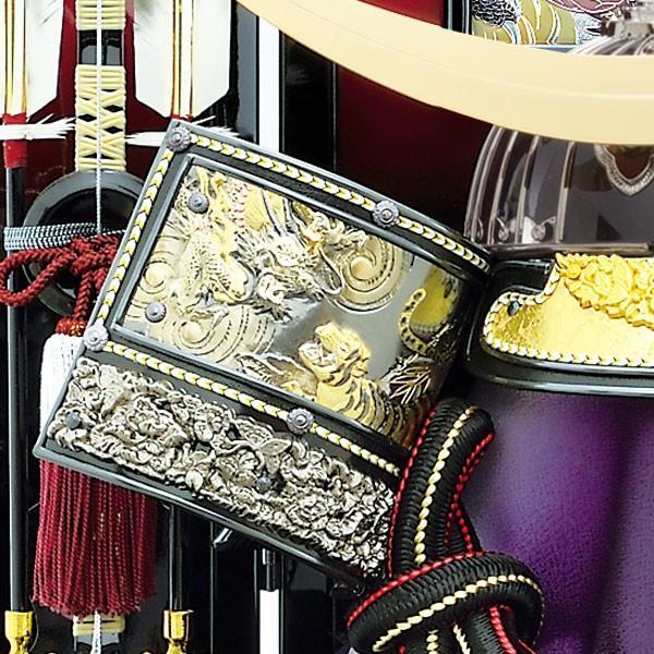 【最短即日出荷可能品】 五月人形 着用 収納飾り 兜飾り 23号 彫金 伊達政宗 着用兜収納飾り kabuto50-59 5月人形 jinya 04