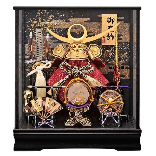 五月人形 兜飾り コンパクト 上杉謙信 ケース飾り かぶと 兜 135-728 kabuto-49 5月人形|jinya