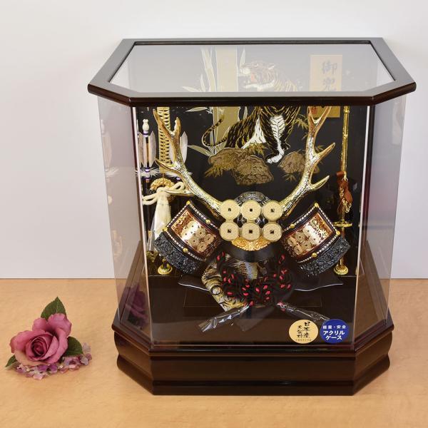 【最短即日出荷可能品】 五月人形 真田幸村 兜飾り コンパクト 兜ケース飾り 165-719 kabuto-49 kabuto-49 5月人形|jinya|03