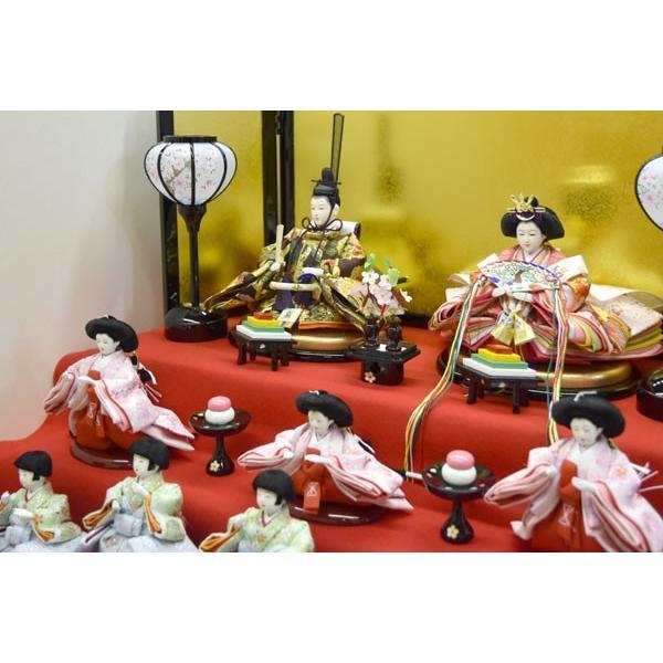 雛人形 コンパクト ひな人形 五段飾り 十五人 15人飾り 5段 ミニひな人形|jinya|04