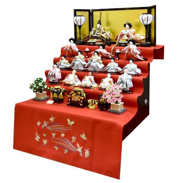 雛人形 コンパクト ひな人形 五段飾り 十五人 15人飾り 5段 ミニひな人形|jinya|06