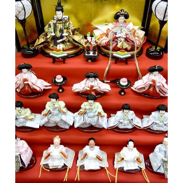 雛人形 コンパクト ひな人形 五段飾り 十五人 15人飾り 5段 ミニひな人形|jinya|07