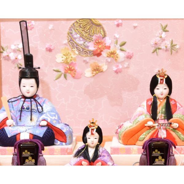 雛人形 久月 木目込み 収納飾り ほのか コンパクト mini 小さい 杉田 ひな人形 初節句飾り お祝|jinya|03