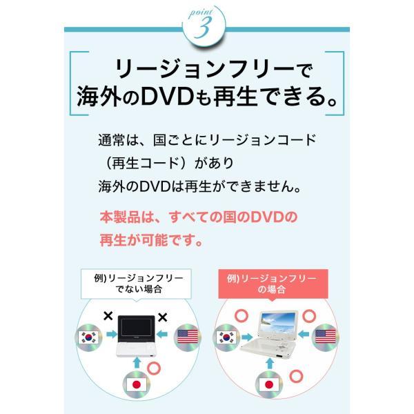 ポータブルDVDプレーヤー 本体 10.1型 大画面 車 防水と地デジ不可 リージョンフリー DVDプレイヤー ADone アドワン 一年保証 字幕 送料無料|jirits|09