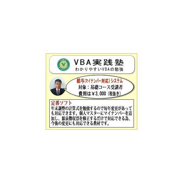 VBA給与(マイナンバー対応)システム(対象:基礎コース受講者)|jissenvba